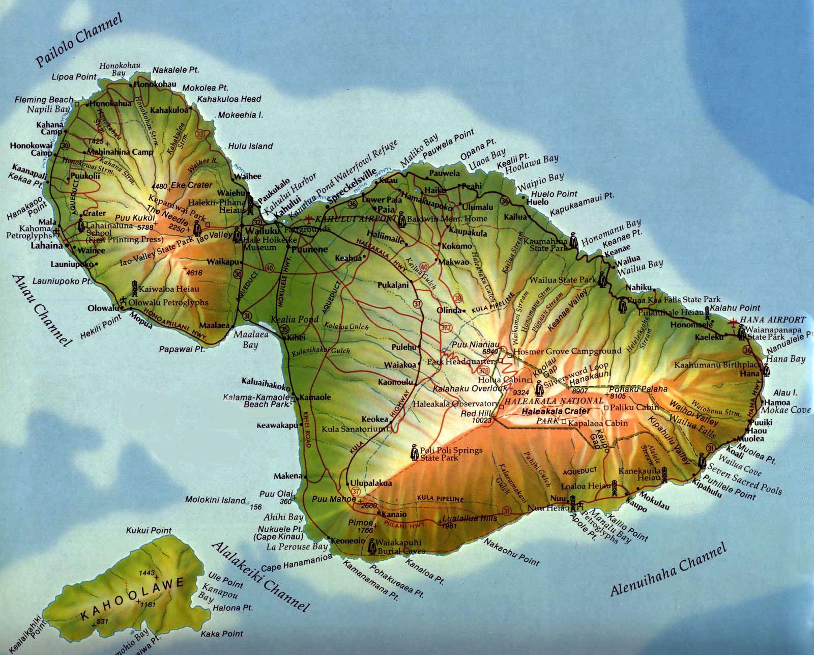 big-beach-maui-map Images - Frompo - 1 Wailuku Beach